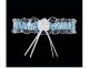 Blau-Weiß Strumpfband MADRYT