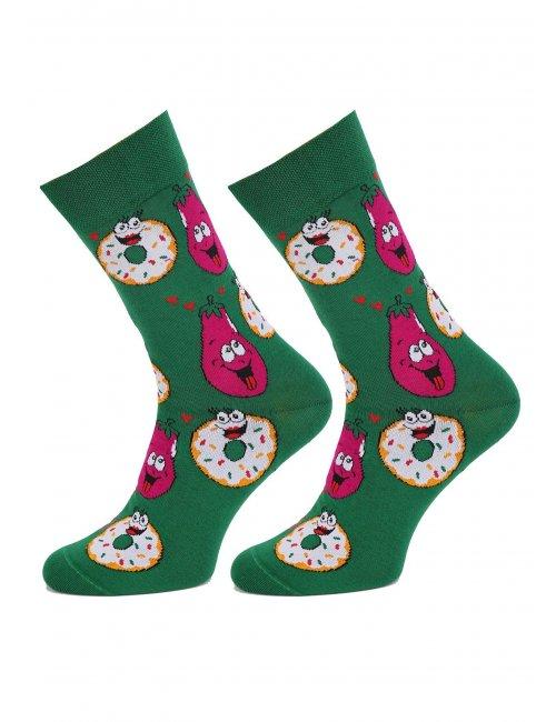 Pánske ponožky DONUT&BAKLAŽÁN CRAZY LOVE Marilyn
