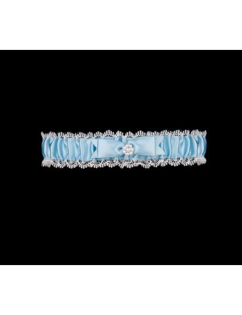 Blaues Strumpfband für die Braut BRISTOL Julimex