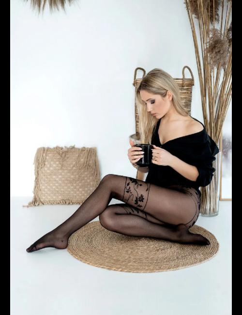 Damen gemusterte Strumpfhose CLAIRE 20DEN Knittex