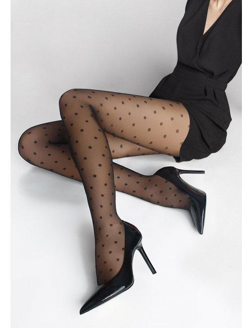 Dámske vzorované pančuchy FLORES DOTS 02 20DEN Marilyn