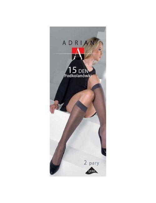 Damen Kniestrümpfe LYCRA 15DEN Adrian